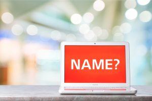 Name on laptop