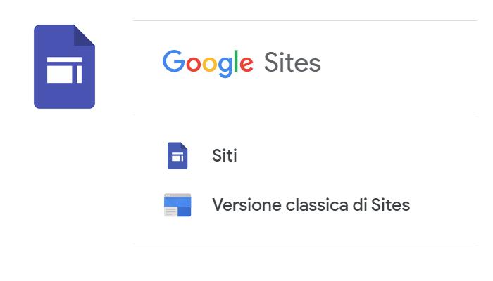 1° settembre 2021, fine della versione classica di Google Sites